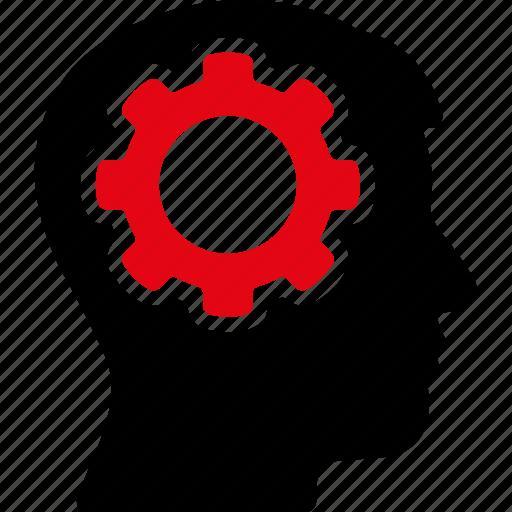 brain, control, engineering, gear, idea, technology, think icon