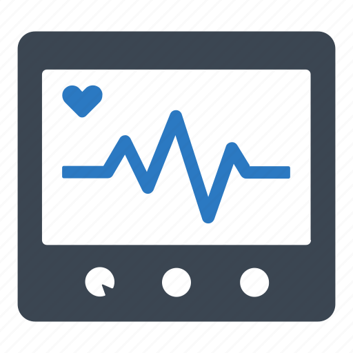 cardiogram, electrocardiography, heart rate icon