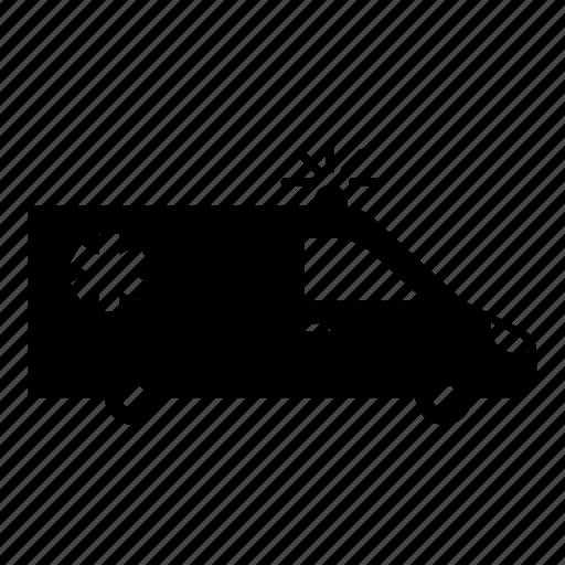 ambulance, automobile, emergency, medical, speeding ambulance, urgent, vehicle icon
