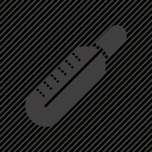 diagnostic, measurement, temperature, thermometer icon