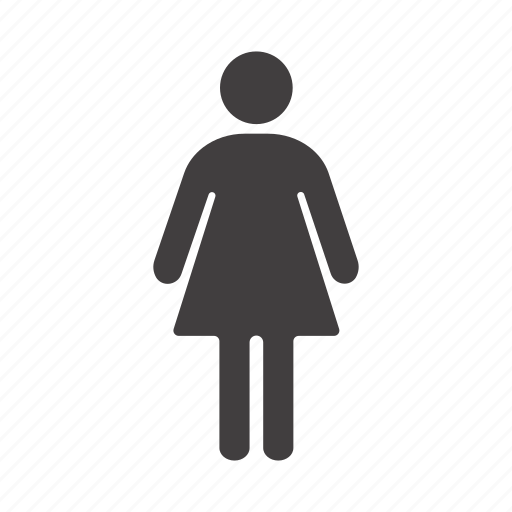 female, girl, index, sign, toilet, wc, woman icon