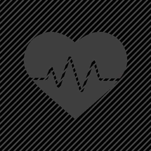 cardio, cardiogram, cardiology, heart, heartbeat, rhythm icon
