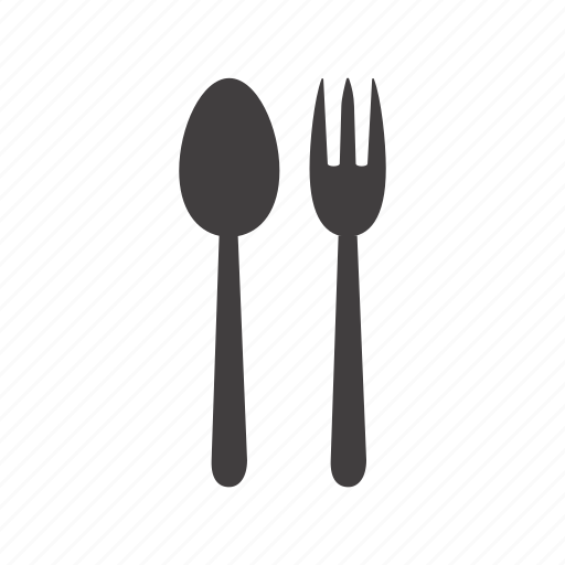 cafe, canteen, cutlery, dining room, dinner, fork, spoon icon