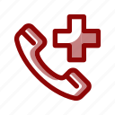 call, doctor, emergency, healthy, hospital, medical, phone icon