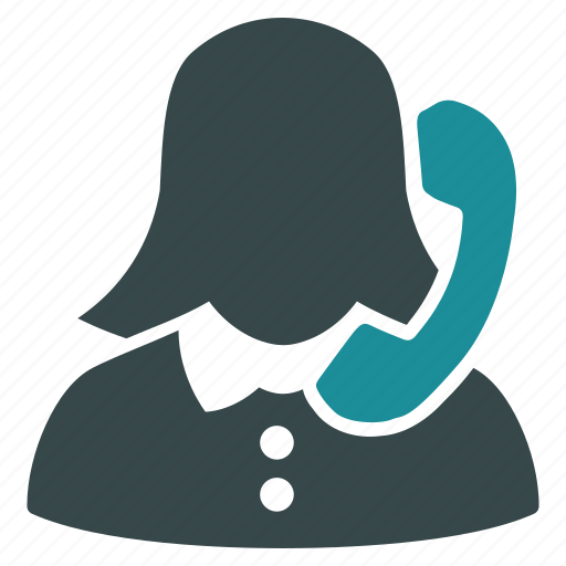 call center, emergency service, help desk, hotline number, phone operator, reception, woman icon