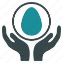 care, development, egg, incubator, insurance, pregnancy, startup icon