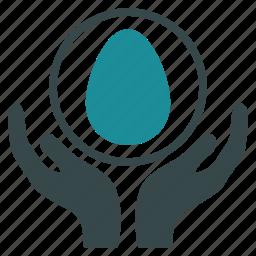 care, development, egg, incubator, insurance, pregnancy, startup icon
