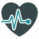 cardio, cardiogram, chart, graph, heart, heartbeat, pulse icon