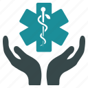 care, hands, health, healthcare, insurance, medicine, support icon