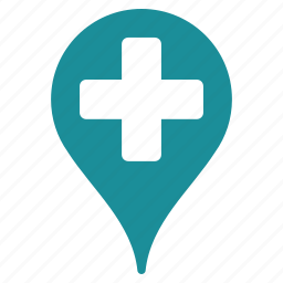 building, doctor, help, hospital, map, medical, travel icon