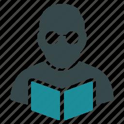 education, knowledge, learning, professor, student, study, teacher icon