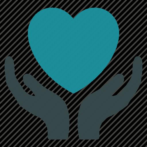 care, health, healthcare, heart, insurance, love, support icon