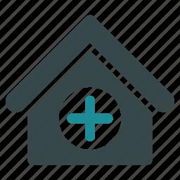 ambulance, base, building, clinic, company, hospital, medical icon