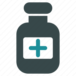 bottle, chemistry, container, health, medical, medicine, phial icon