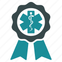 achievement, award, badge, certificate, prize, seal, success icon