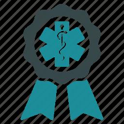 achievement, award, badge, certificate, prize, seal, success icon