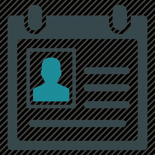 account card, account profile, case record, file, info, office, user data icon