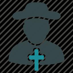 christian, church, cross, jesus, monk, priest, religious icon