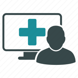 computer, doctor, healthcare, medical, medicine, monitor, screen icon