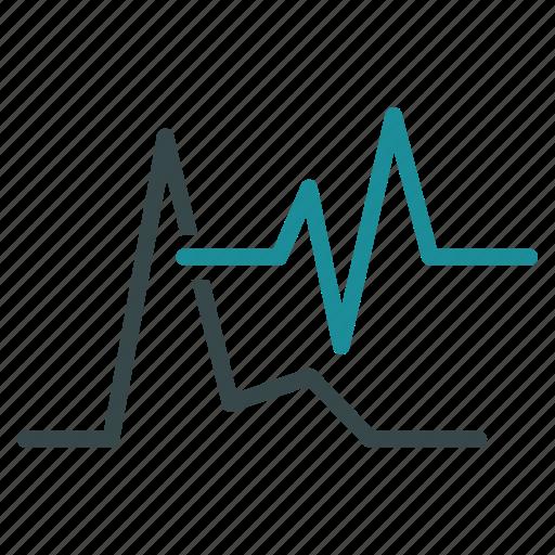 analysis, analytics, cardiogram, charts, diagram, ecg, graphs icon