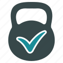 equipment, exercise, health, healthy, mass, sport, strength icon
