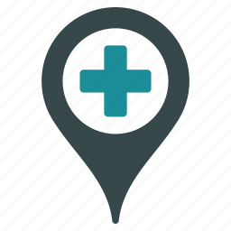 flag, gps, map marker, medical, pin, pointer, travel icon