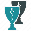 award, cup, favorite, gold, medal, ribbon, trophy icon