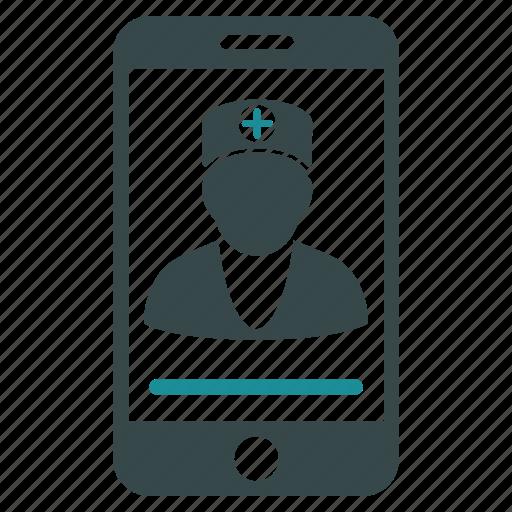 communication, doctor, medical, medicine, online, web, website icon