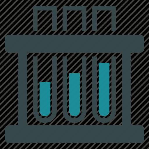 analysis, analytics, blood, laboratory, labs, medical, test tubes icon