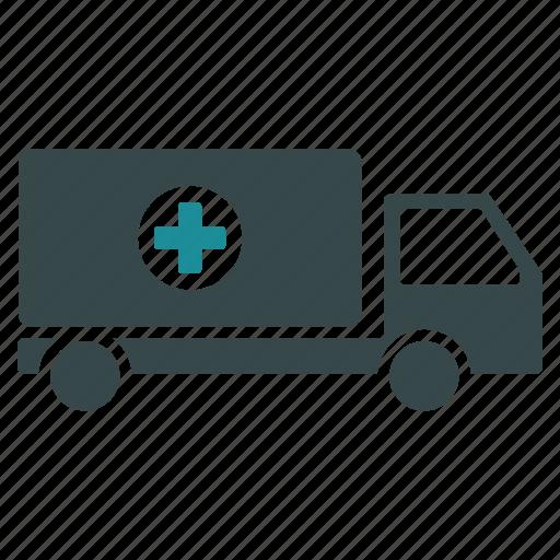 ambulance, hospital, medical, medicine, transport, transportation icon