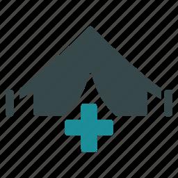 ambulance, clinic, emergency, field hospital, medical tent, medicine, mobile hospital icon