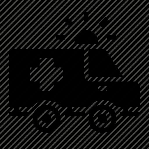 ambulance, car, emergency, medical, transport icon