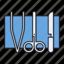 equipment, medical, operation, scissor, tools
