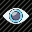 eye, eyeball, healthcare, optics, view icon