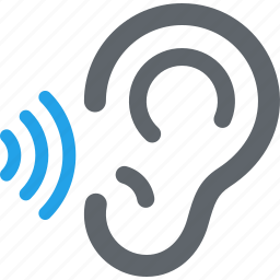 ear, healthcare, hearing, otology icon