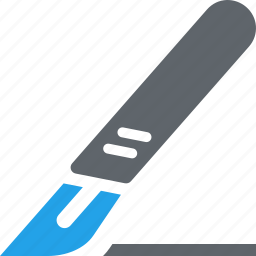 general surgery, medical supplies, scalpel icon