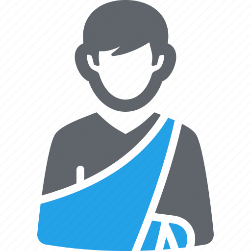 broken arm, heathcare, orthopedics icon