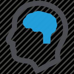brain, head, human brain, neurology icon