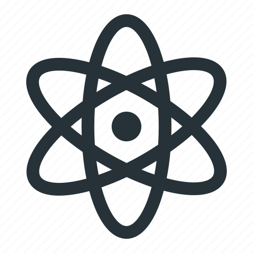 atom, cell, energy, nuclear, physics, science, technology icon