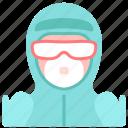 avatar, coronavirus, doctor, medical, n95 mask, ppe, protect icon