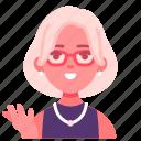 psychiatrist, therapist, specialist, female, avatar, doctor, glasses icon