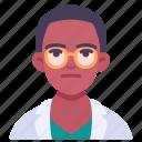 african american, doctor, glasses, hospital, man, medical, nurse