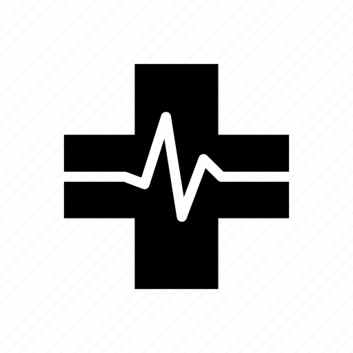 Cross, health care, heart beat, medical, pulse, sign icon - Download on Iconfinder