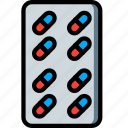 health, medical, medication, pills, prescription, tablets icon