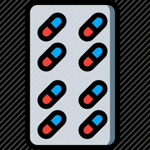 health, medical, medication, pills, prescription, tablets icon
