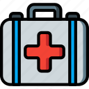 aid, equipment, first, kit, medical, patient icon