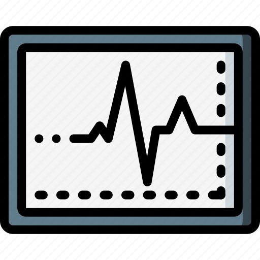 equipment, heart, medical, monitor, patient, rate, surgical icon