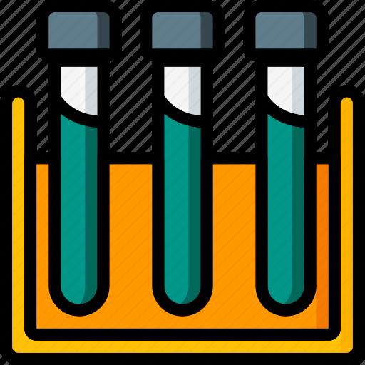 hospital, laboratory, medical, rack, results, test, tube icon
