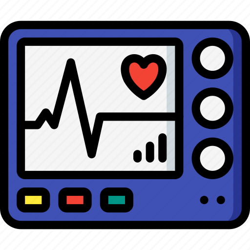 care, heart, hospital, medical, monitor, patient, rate icon