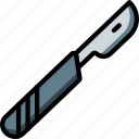 equipment, hospital, knife, medical, patient, surgical, tool icon